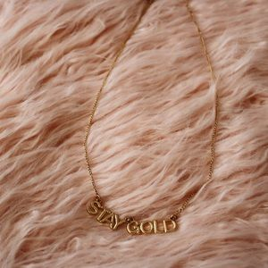 Ban.do Stay Gold Party Banner Necklace